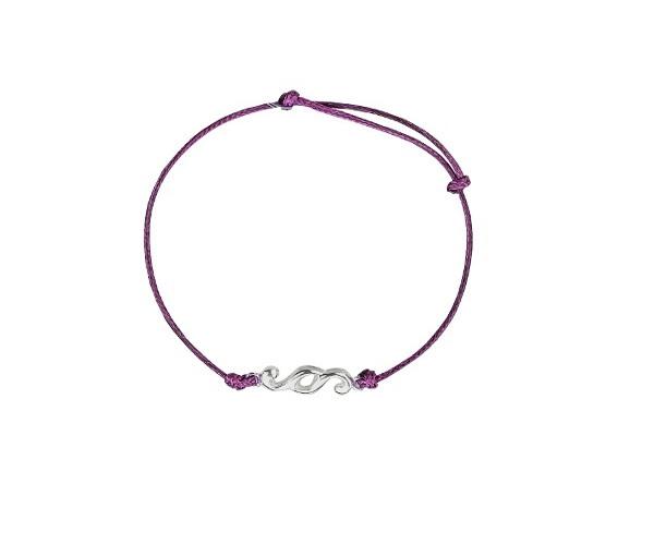 Bransoletka Nakład z fioletowym sznurkiem1