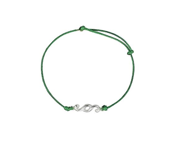 Bransoletka Nakład z zielonym sznurkiem1