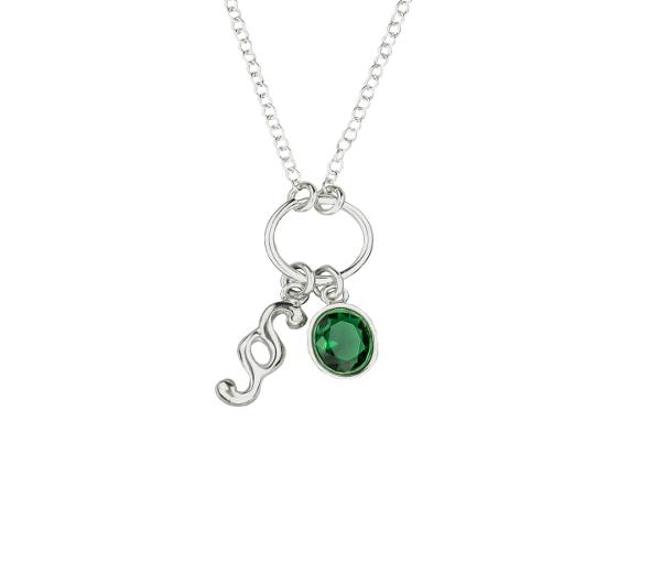 Naszyjnik Moc dowodowa z zieloną cyrkonią1